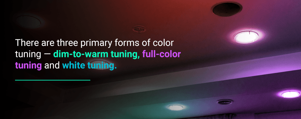 three types of color tuning