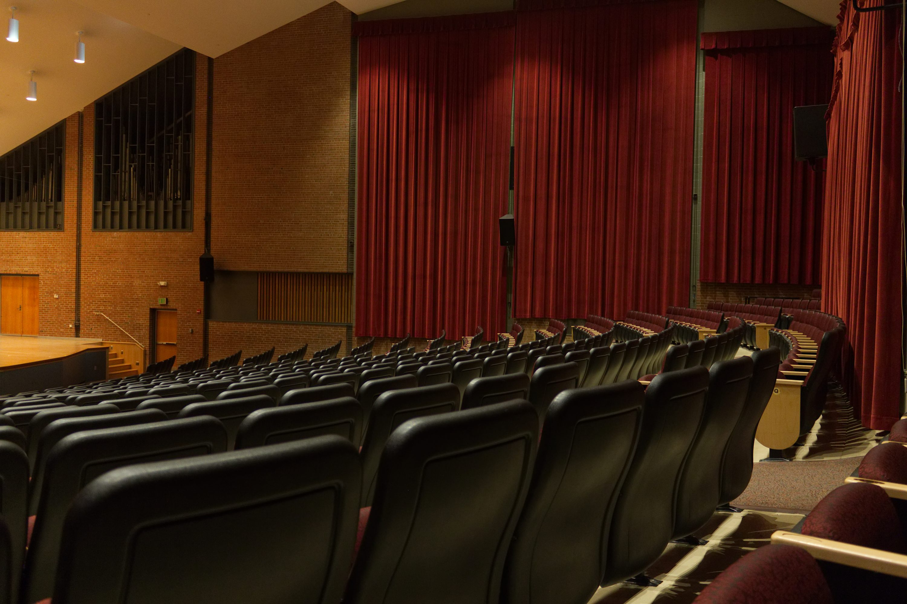 concert hall curtain design towson university