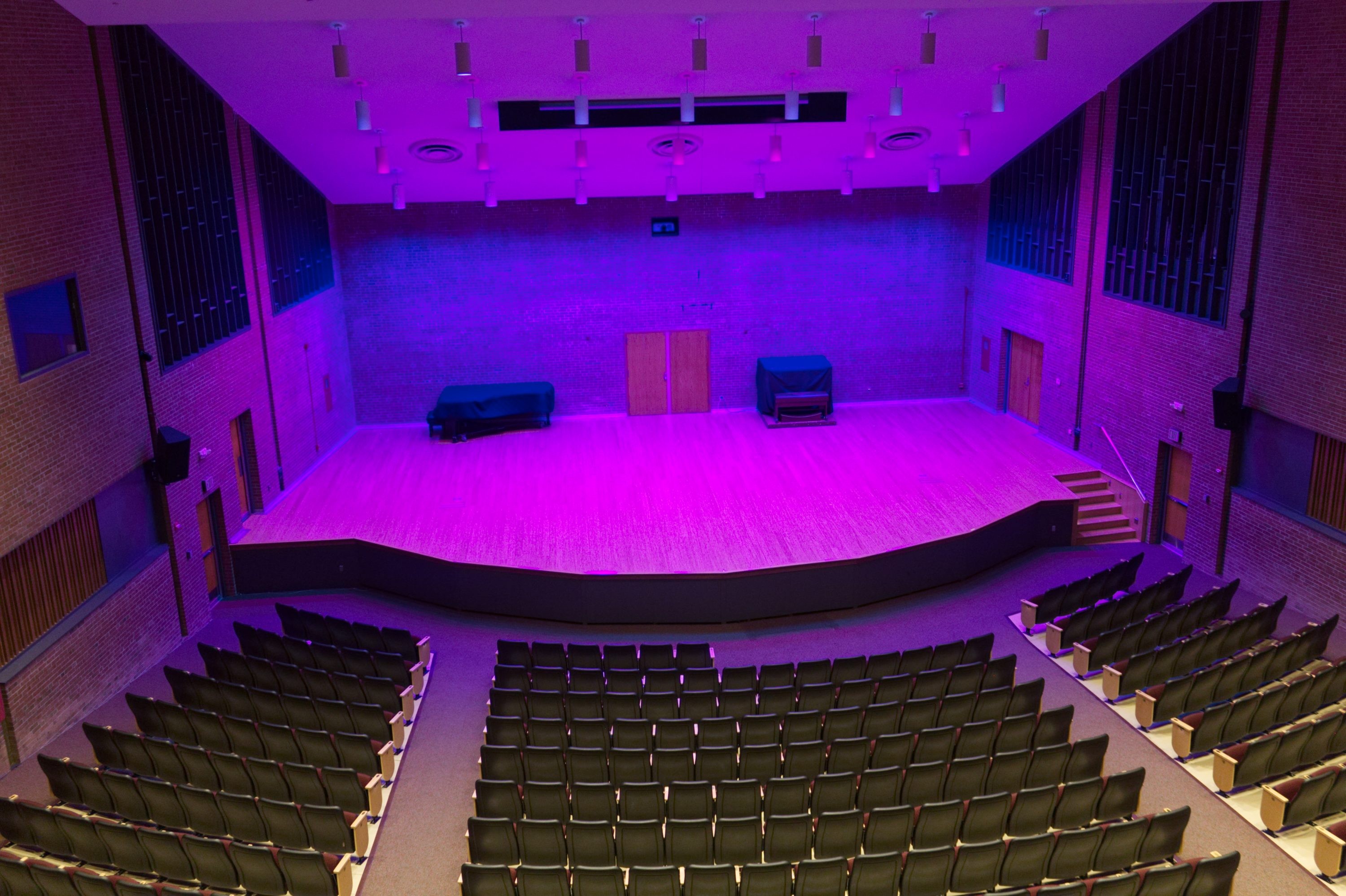 concert hall stage and lighting design towson university