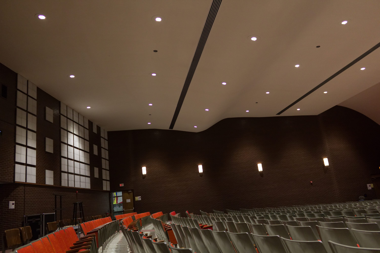 middle school auditorium acoustic design