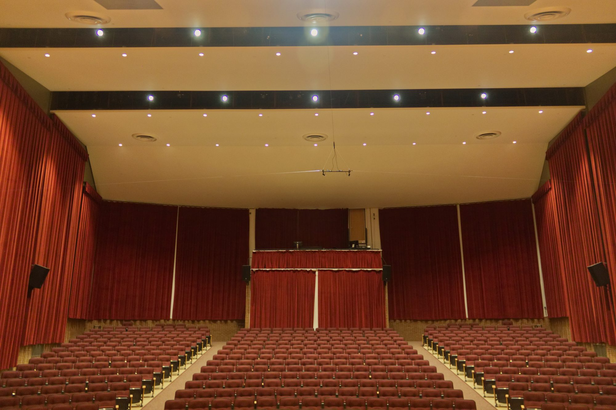 concert hall curtain restoration towson university