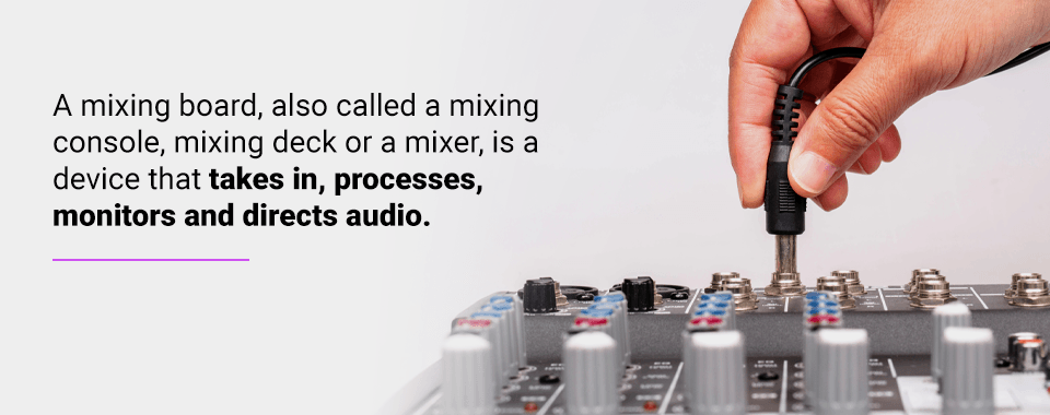 what is a mixing board