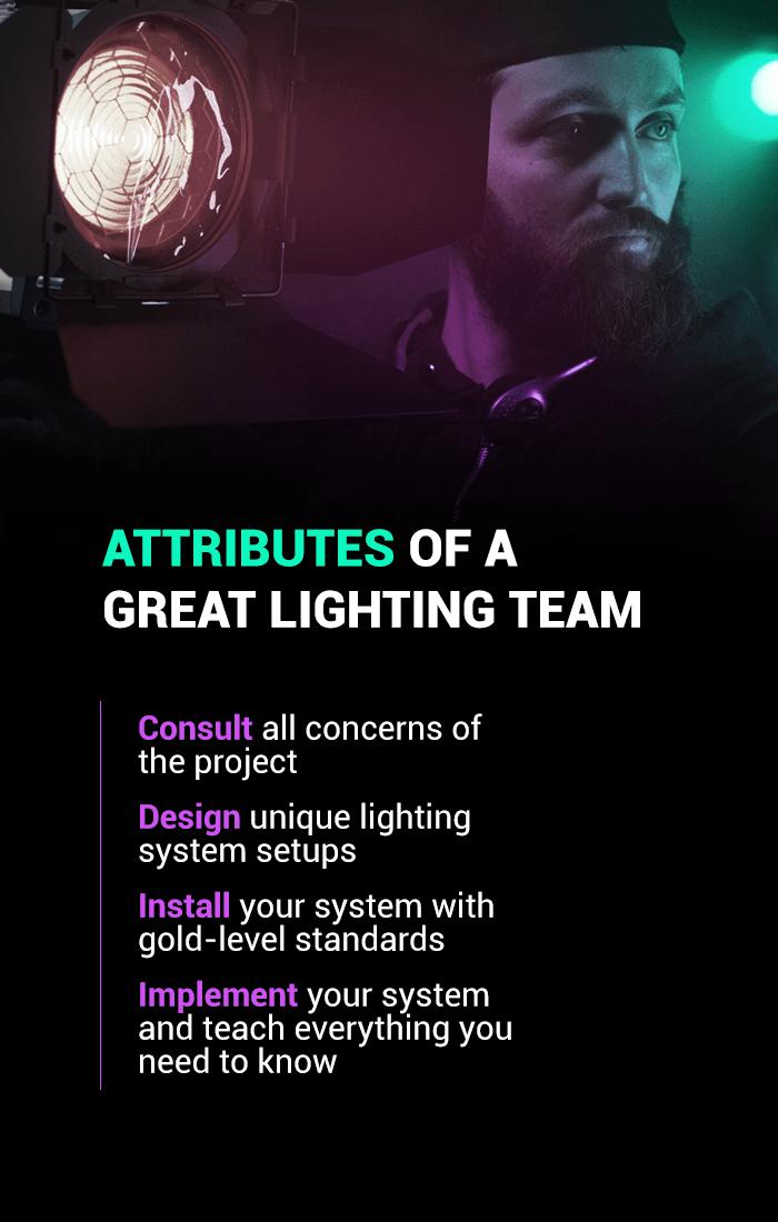 great lighting team