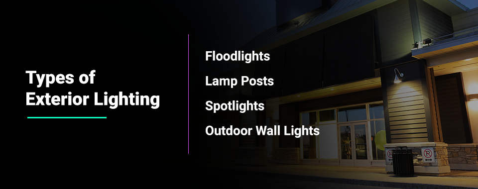 types of exterior lighting
