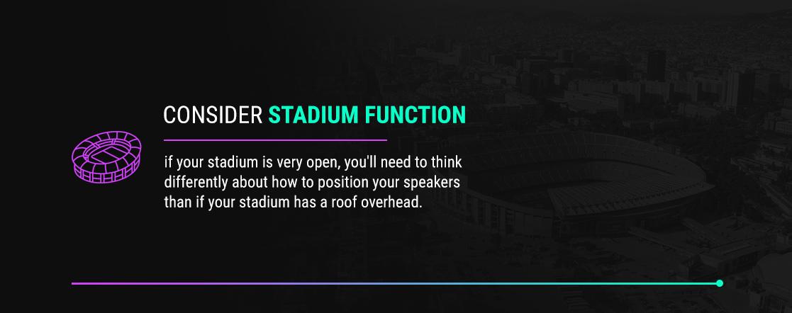 Consider Stadium Function